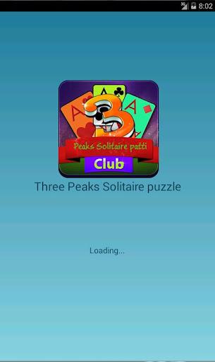 Three Peaks Solitaire puzzle