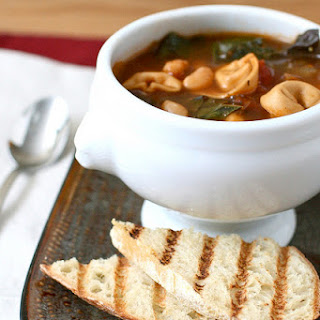Tortellini Soup with Beans and Chard