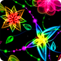 Neon Butterfly Parallax 3D LWP icon