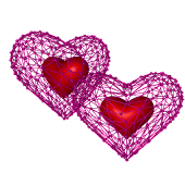 Lovely Net 3D Heart