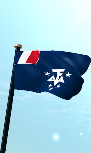 フランス領南方南極地域フラグ3Dライブ壁紙