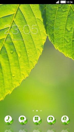 Green Leaf C Launcher Theme