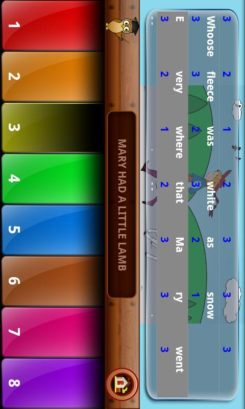 Nursery Rhymes Piano Tunes- screenshot