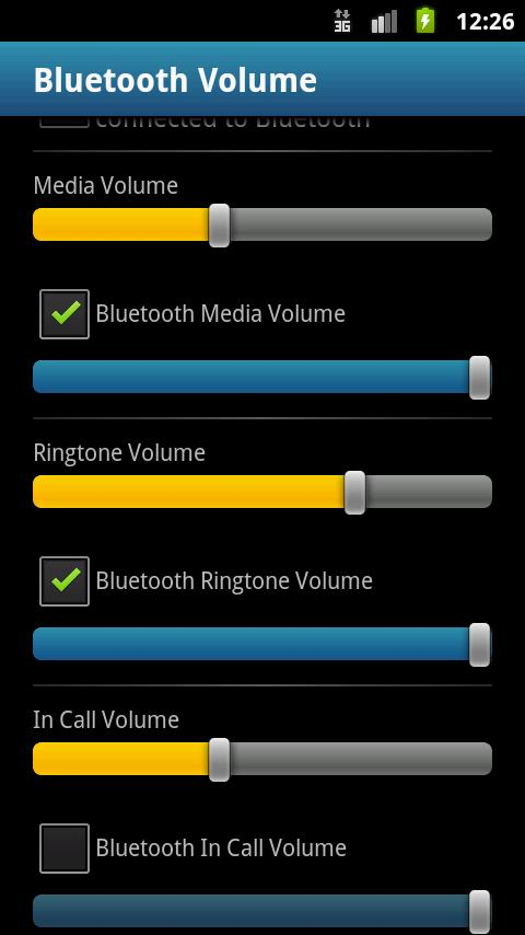 Bluetooth Volume - screenshot