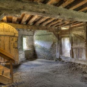 Undercroft by John Walton - Buildings & Architecture Public & Historical ( cellar, beams, stokesay, undercroft, castle, heritagefocus )