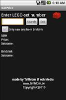 Screenshot of GetPrice