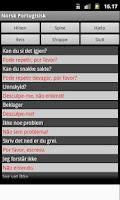 Screenshot of Norwegian Portuguese Dict