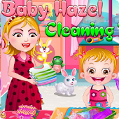 Baby Hazel and Mom Clean House
