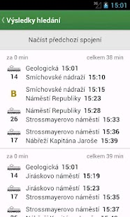 Pubtran (Czech public transit) - screenshot thumbnail