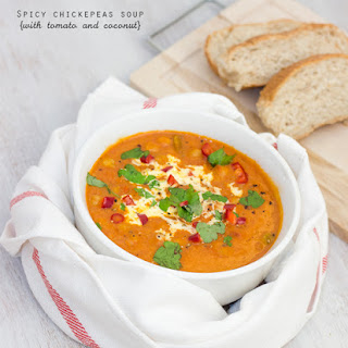 Spicy Chickpeas, Coconut And Tomato Soup