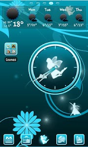 Fairy Blue Clock screenshot 1