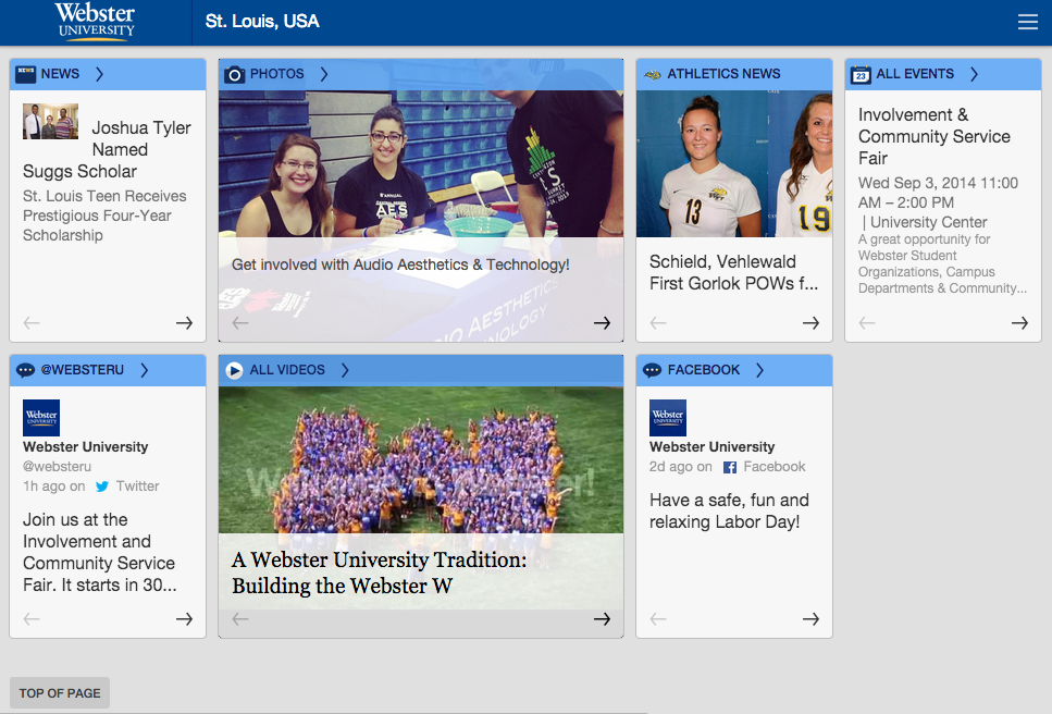 Webster University- screenshot