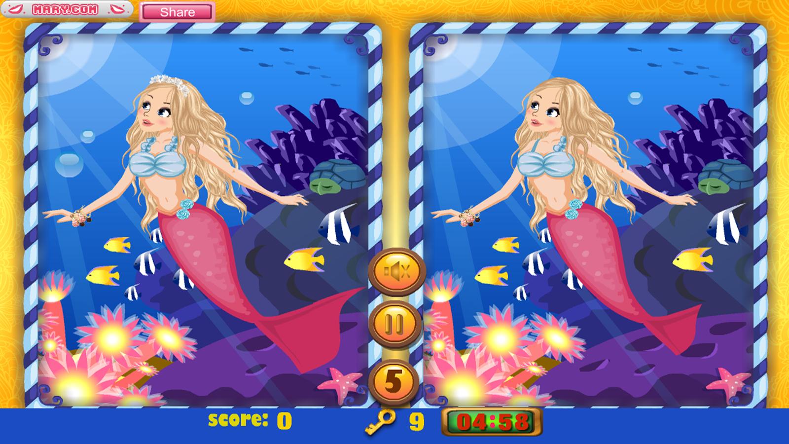 Me mermaid coloring games online - Little Mermaid Free Game Screenshot