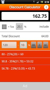 Discount Calculator(FREE) - screenshot thumbnail