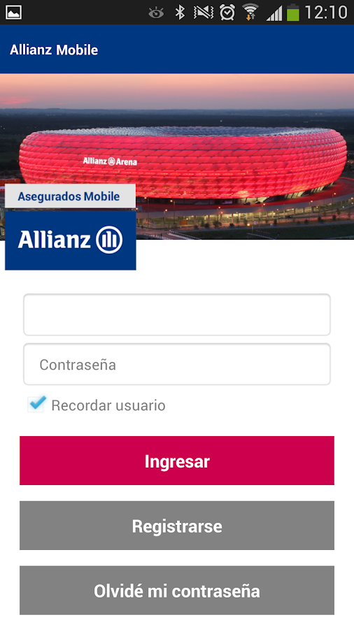 Allianz Asegurados Mobile- screenshot
