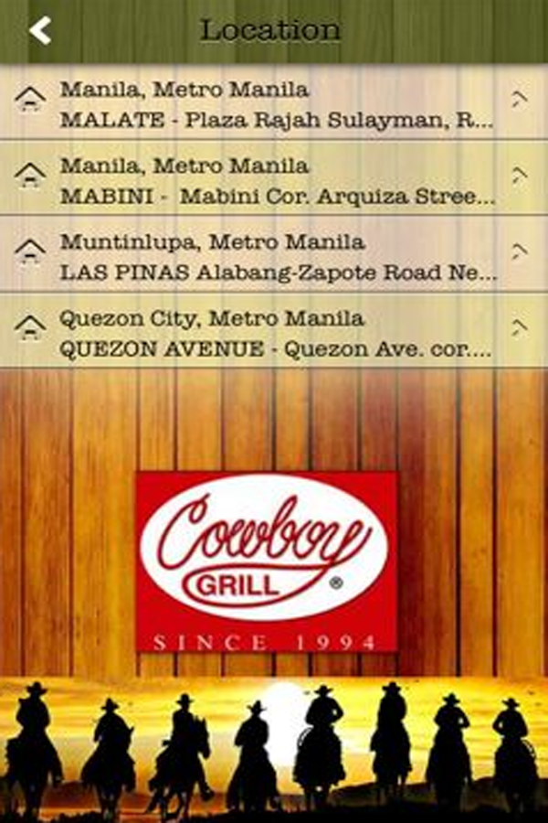 Cowboy Grill Philippines- screenshot