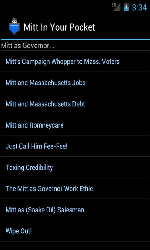 Mitt (Romney) in Your Pocket - screenshot