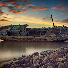 Perahu ikan by Azay Boyan - Transportation Boats