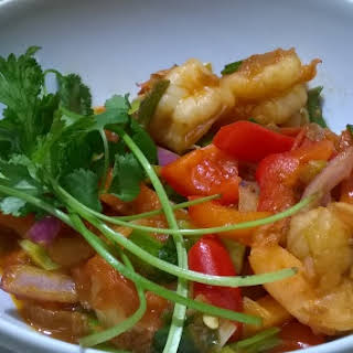 Trini Style Pepper Shrimp.