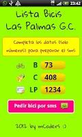 Screenshot of Lista Bicis Las Palmas