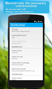 Call recorder: CallRec- screenshot thumbnail