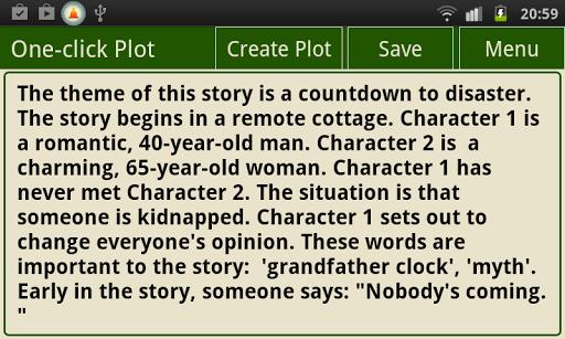 Writer's Plot Generator