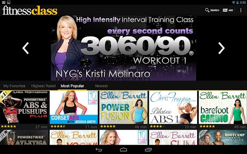 FitnessClass - screenshot thumbnail