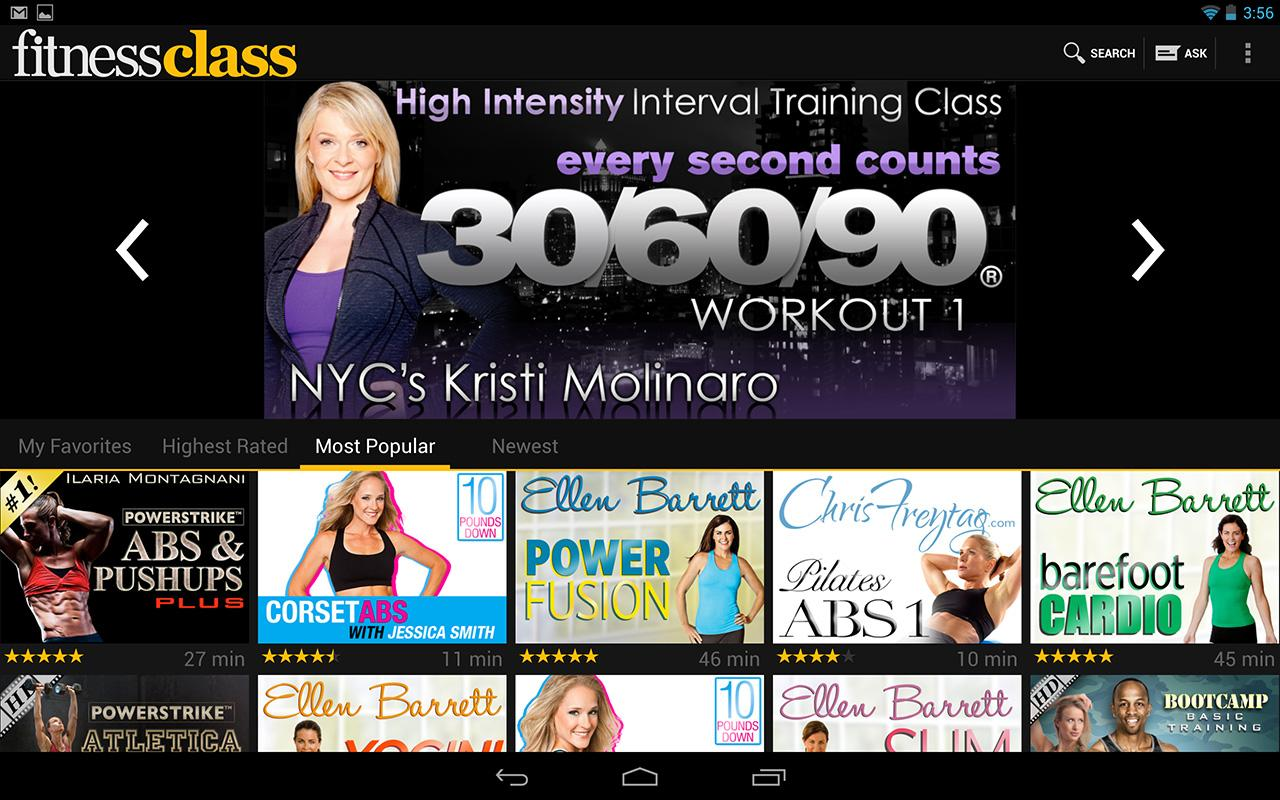 FitnessClass - screenshot