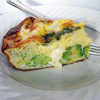 Easter Brunch Baked Broccoli Frittata.