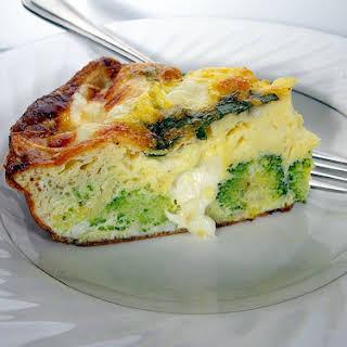 Easter Brunch Baked Broccoli Frittata.