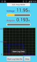 Screenshot of IOIO Volt Amp Meter
