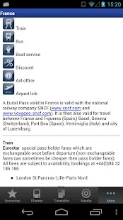 Rail Planner  Eurail/InterRail - screenshot thumbnail