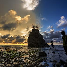 Duo Tone Sunset by Härris McHörrör - Landscapes Beaches ( landscape, beach )
