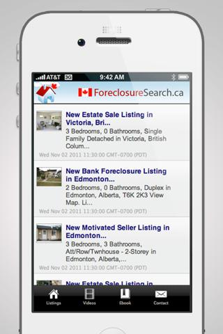 Foreclosures Canada - screenshot