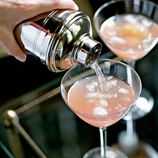 Pink Grapefruit and Lychee Cocktail.