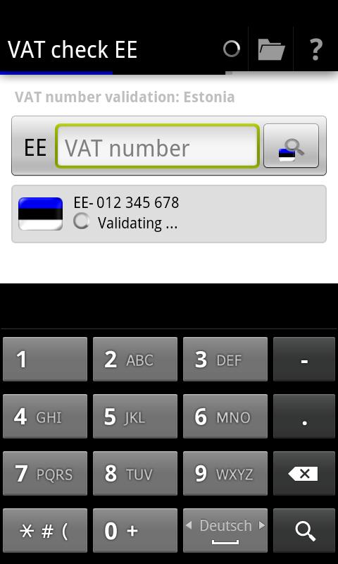 VAT check EE - screenshot
