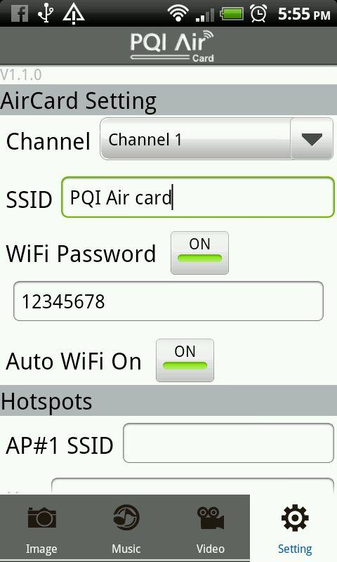 PQI Air Card+- screenshot