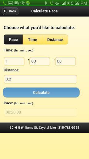 The Running Depot Calculator