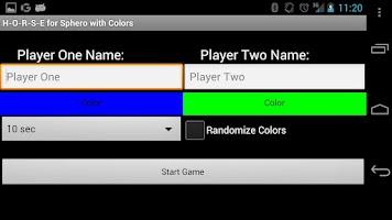 Screenshot of H-O-R-S-E for Sphero