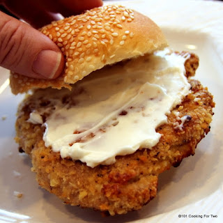 Oven Fried Pork Tenderloin Sandwiches.