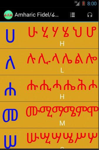 Geez Amharic Fidel