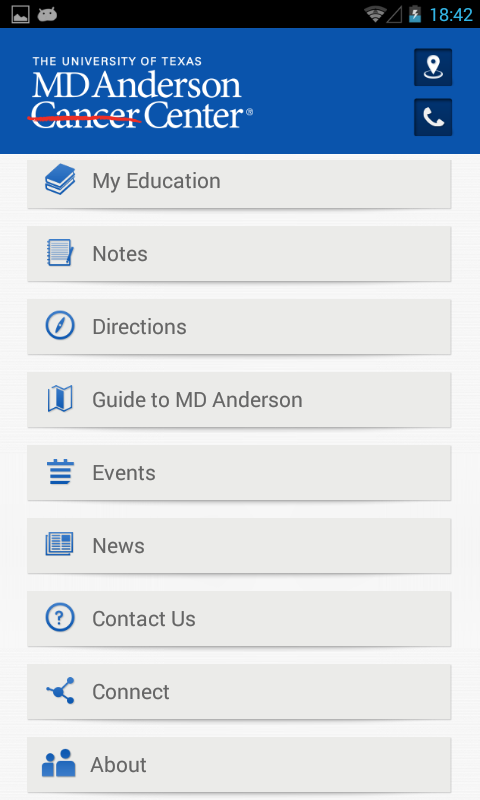 MD Anderson Mobile - screenshot