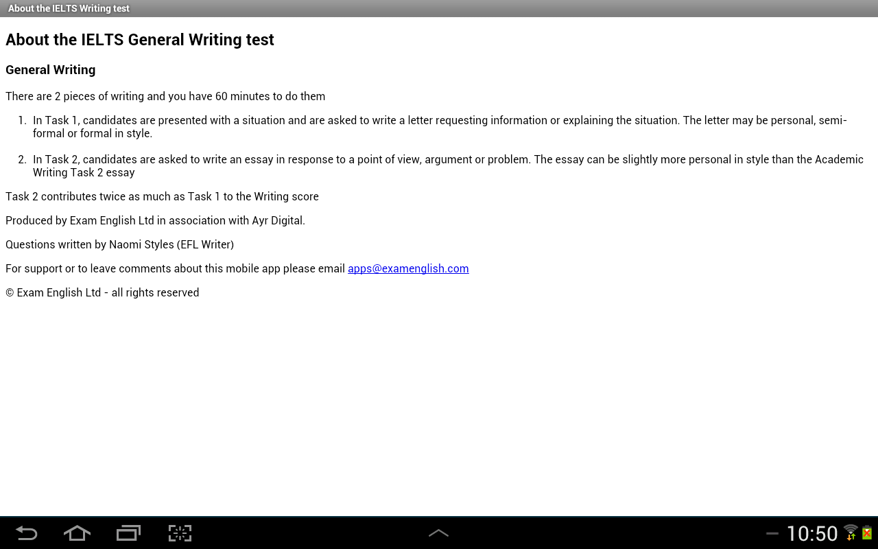 ielts writing android apps on google play ielts writing screenshot