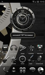 Luxus Ebony HQ Clock Widget APK screenshot thumbnail 3
