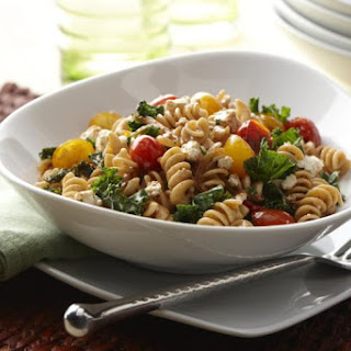 Warm Tomato and Kale Pasta.