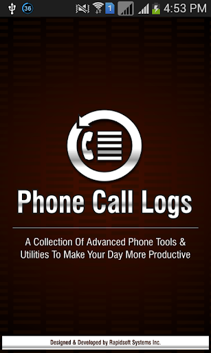 Phone Call Logs For Android