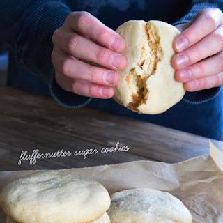 Gluten Free Fluffernutter Sugar Cookies