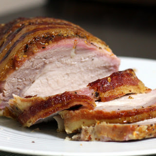 Honey-Bourbon Glazed Pork Loin With Bacon
