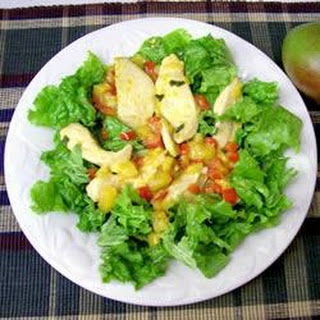 Warm Ginger and Mango Chicken Salad.