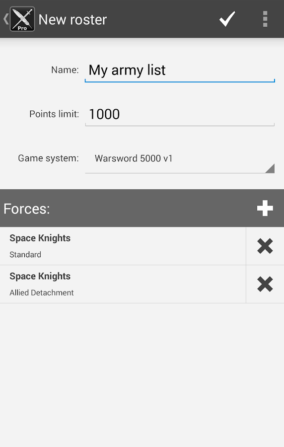 BattleScribe Mobile Pro- screenshot